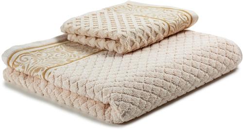 T1-WINTER60 Exclusive towel set - Shell/oak buft