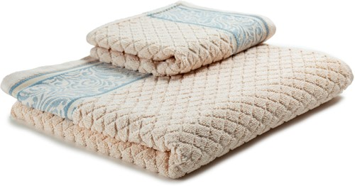 T1-WINTER60 Exclusive towel set - Shell/pearl blue