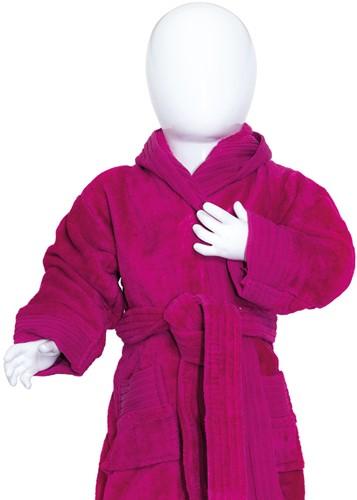 T1-BABYBATH Baby bathrobe - Magenta - 80/92