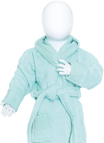 T1-BABYBATH Baby bathrobe - Mint - 68/74