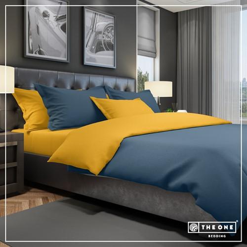 T1-BC240 Bedset Classic - Indigo / gold - 240 x 220 cm