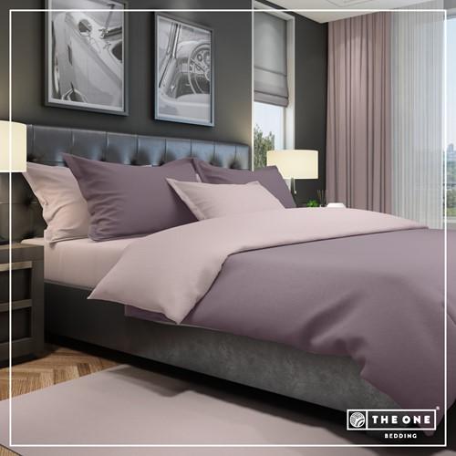 T1-BC240 Bedset Classic - Plum / mauve - 240 x 220 cm