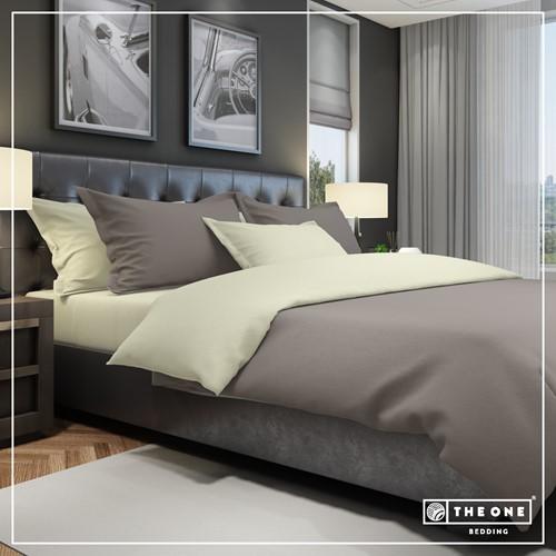 T1-BC240 Bedset Classic - Taupe / cream - 240 x 220 cm