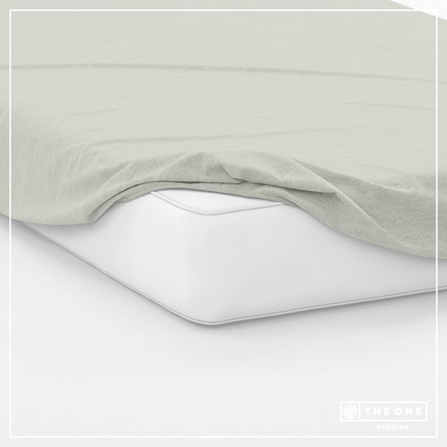 T1-FS160 Fitted Sheets - Cream - 160 x 220 cm