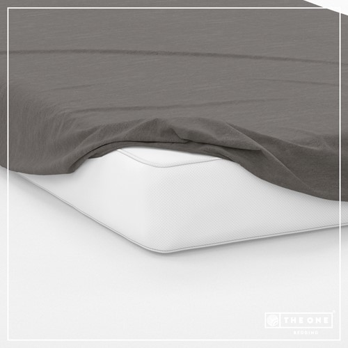 T1-FS160 Fitted Sheets - Dark grey - 160 x 220 cm