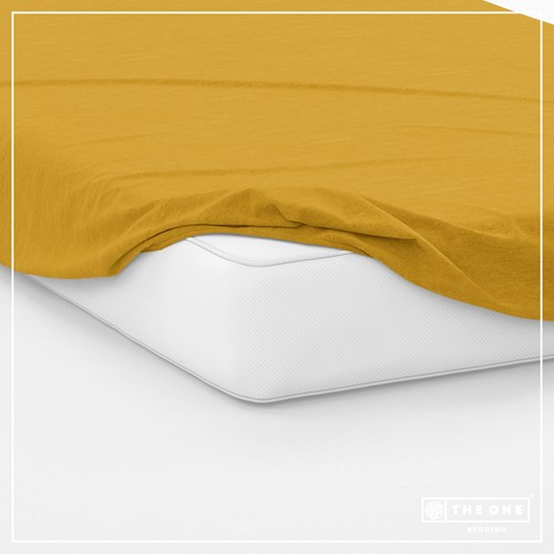 T1-FS200 Fitted Sheets - Gold - 200 x 220 cm