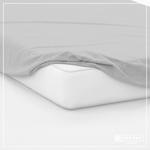 T1-FS200 Fitted Sheets - Light grey - 200 x 220 cm