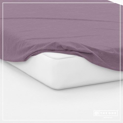 T1-FS100 Fitted Sheets - Plum - 100 x 220 cm