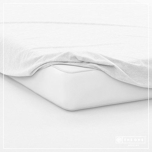 T1-FS200 Fitted Sheets - White - 200 x 220 cm