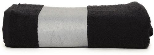 T1-PRINTSPORT Sublimation sport towel - Black - 30 x 130 cm